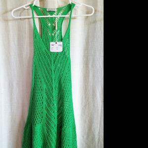 37ed39ff7f74 Cecilia Prado Dresses - Cecilia Prado Green Crochet Dress Cover Up Yoga S